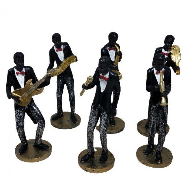 Müzisyen Zenci Grup Küçük Boy