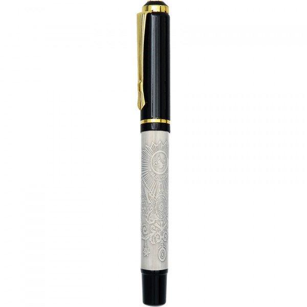 Özel Kutusunda Kabartmalı Tasarım Roller Kalem